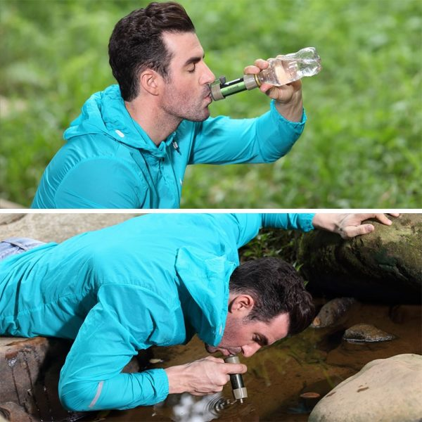 Personal camping purification water filter straw