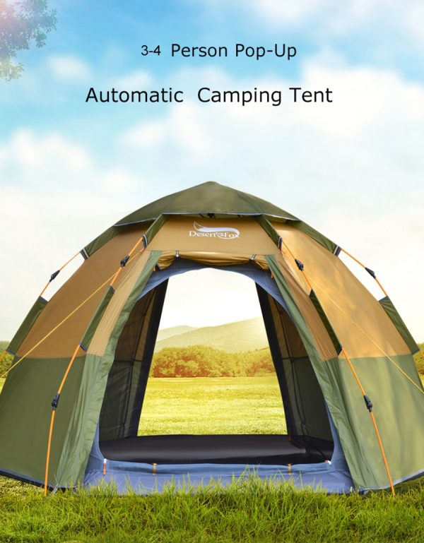 3-4 Person Camping Pop-up Automatic Tent