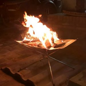 Bonfire Campfire Pit Camping Wood Stove Stand