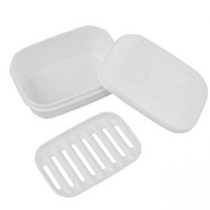Holder Dish Container with Removable Drainer Soap Case