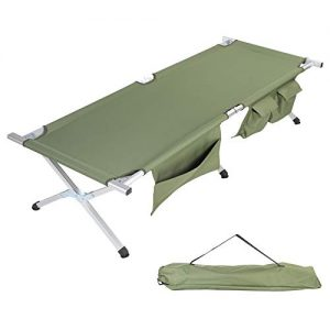 Lightweight Aluminum Camping Cot Hunting, Beach, Barbecue, Hiking