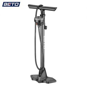 Bicycle Floor Pump with Industrial Top-Mounted Gauge