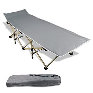 Folding Camping Cot, Sleeping Bed, Tent Cot, Extra Wide