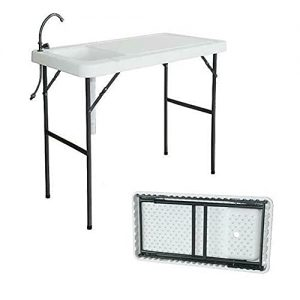 Portable Folding Camping Sink Table Fish