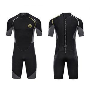 ZCCO Men's Shorty Wetsuit, 1.5mm Neoprene Diving Suit