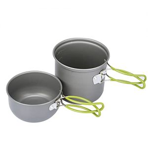 Backpacking Picnic Cooking Bowl Non Stick Pot Knife Spoon Set
