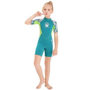 Wetsuit Kids Shorty Neoprene Thermal Diving Swimsuit