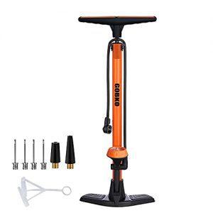 Floor Bicycle Pump with Both Presta and Schrader