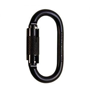 Steel Auto Lock Oval-Shaped Carabiner