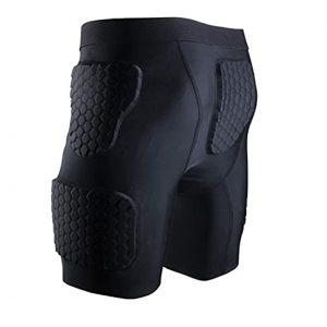 Padded Compression Basketball Shorts for Big Boy's Goalie