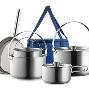 Piece Pots & Pans Open Fire Cooking Kit