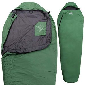 Mummy Sleeping Bag Hooded Sleeping Bags w/Compression Sack for Adults