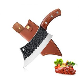 Hand Forged Meat Cleaver 6.3 Inch Kitchen Chef Knife