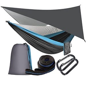 Camping Hammock with Mosquito Net and Rainfly Tarp