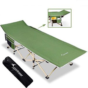 Max Load 450 LBS Camping Cot Wide Sleeping Cot Bed with Carry Bag