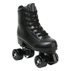 High Top PU Leather Classic Double-Row Roller Skates
