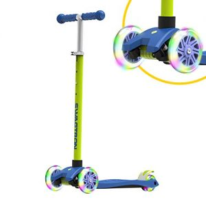 Swagtron K5 3-Wheel Kids Scooter with Light-Up Wheels