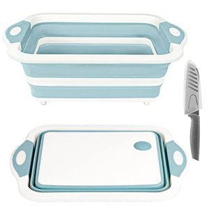 Foldable Chopping Board with Colander Cutting Board