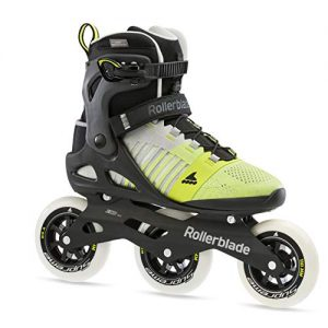 Mens Adult Fitness Inline Skate, Grey and Yellow