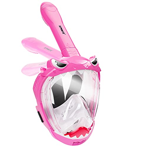 Zipoute Snorkel Full Face Snorkel Mask for Kids