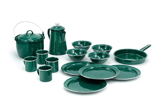 Camp Set Table Setting and Percolator in Durable and Classic Design