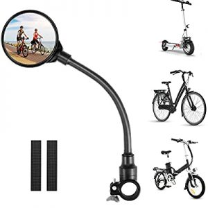 Bike Mirror Round Bicycle Rearview mirror 360° Adjustable