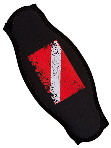 Scuba Diving Mask Strap Wrapper Faded Flag
