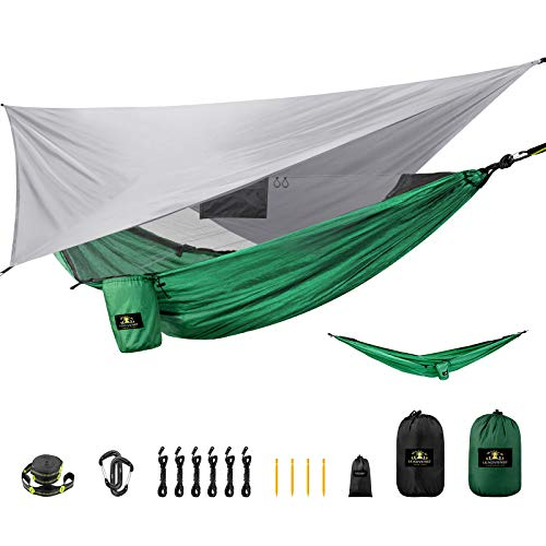Lightweight Backpacking Hammock with Mosquito Net