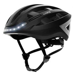 Lumos Kickstart Smart Helmet (Charcoal Black)