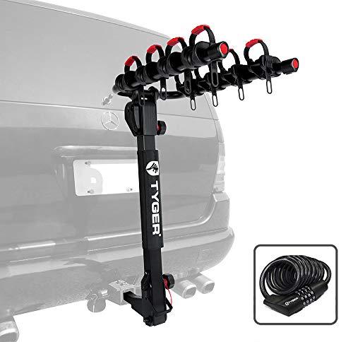 Tyger Auto Deluxe 4-Bike Carrier Rack