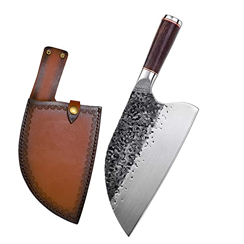 Camping Handmade Forged Serbian Meat Cleaver Knife