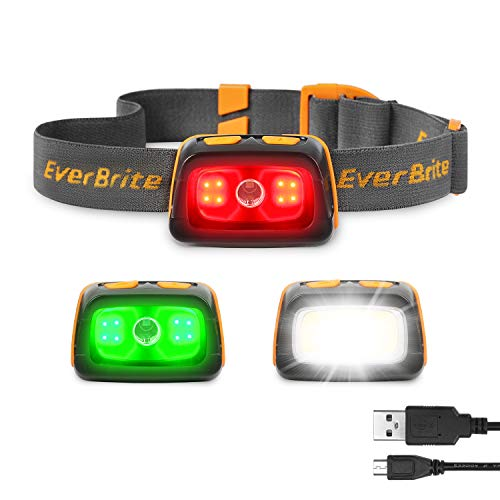 Water Resistant Rechargeable Headlamp for Trail Running, Camping and Hiking