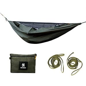 Lightweight Camping Hammock with Net for Backpacking, Camping, Hiking