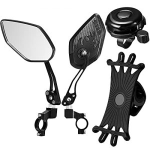2 Pieces Safe Rearview Mirror Adjustable Handlebar Bicycle Mirrors
