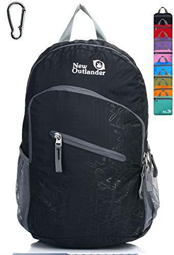 Black Lightweight Travel Hiking Backpack