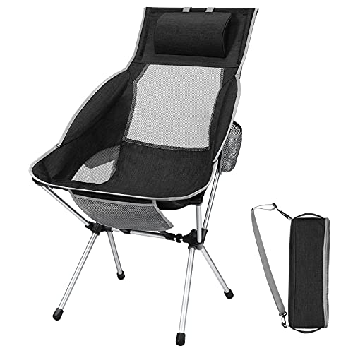 Folding Camping Chair with Detachable Pillow