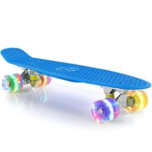 """M Merkapa 22"""" Complete Skateboard with Colorful LED"""