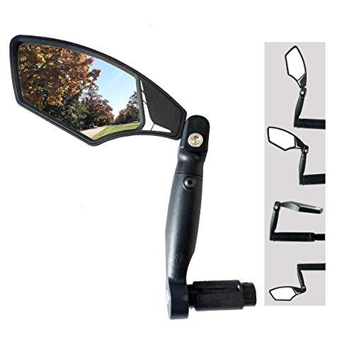 Large Automotive Grade Glass Lens End Bike Mirror