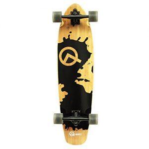 """Quest Rorshack 34"""" Complete Longboard Skateboard"""