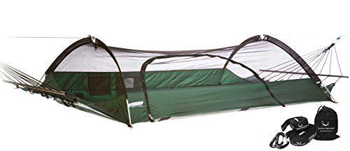 Green Hammock & Strap Bundle Blue Ridge Strap Tent