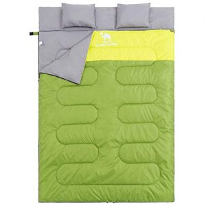 Double/Single Sleeping Bag for Backpacking, Camping, Hiking