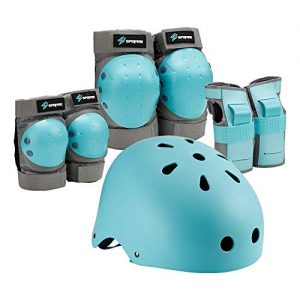 Knee and Elbow Pads with Wrist Guards for Youth, Boys and Girls
