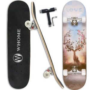 WHOME Pro Skateboard Complete for Adult