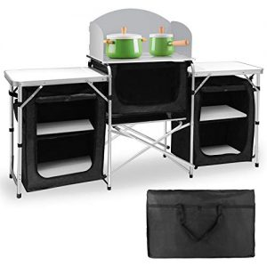 Aluminum Portable Outdoor for BBQ, Party, Picnics and Outdoor Activities Black
