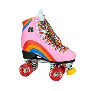 Pink Heart Womens Roller Skates