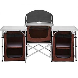 Camping Aluminum Folding Cooking Table Portable