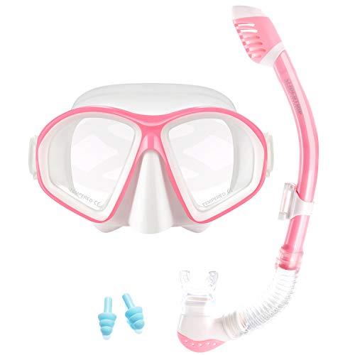 Supertrip Kids Snorkel Set-Scuba Dry Top Diving Mask