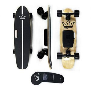 Electric Skateboard with Wireless LED Remote Adjustable Speed and Braking