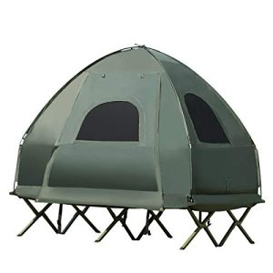 Portable Camping Tent with Air Mattress and Pillow