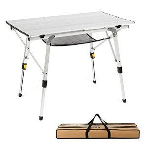 Camping Table Folding Portable Picnic Adjustable Height